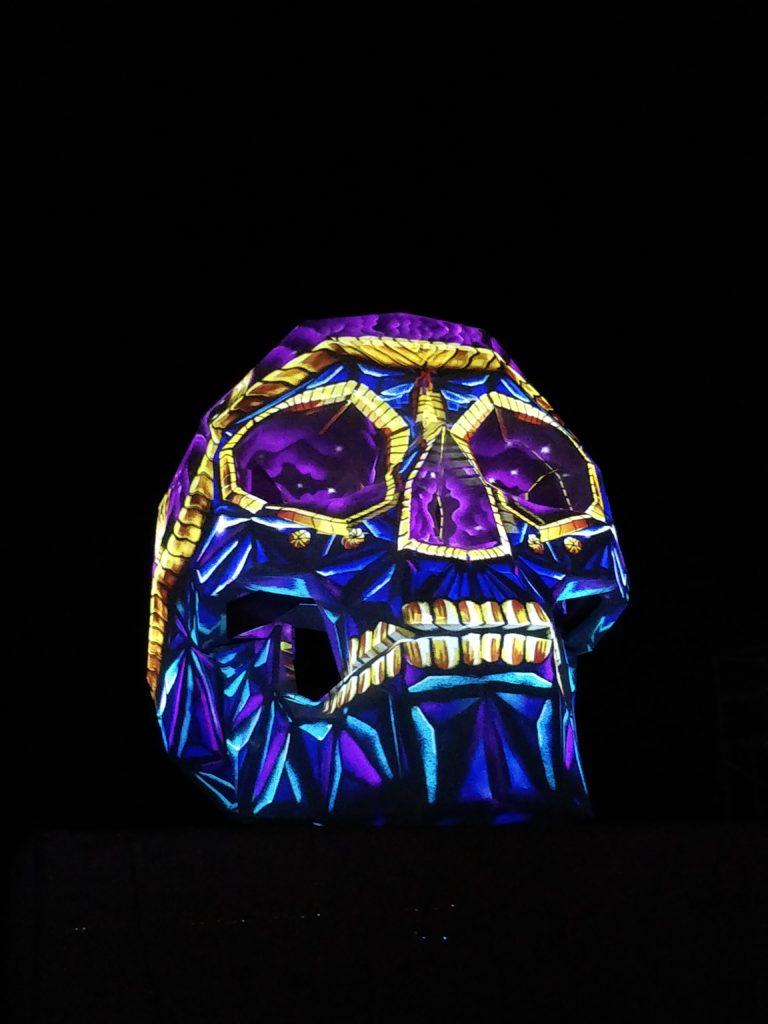Morphing Skull Burning Man